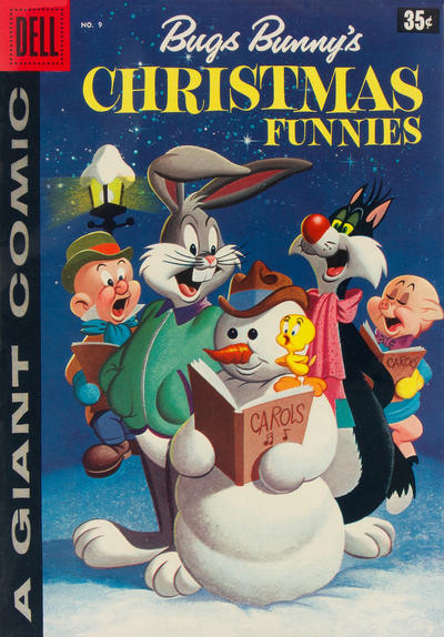 Cover for Bugs Bunny's Christmas Funnies (Dell, 1950 series) #9