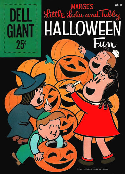 Cover for Dell Giant (Dell, 1959 series) #23 - Marge's Little Lulu and Tubby Halloween Fun