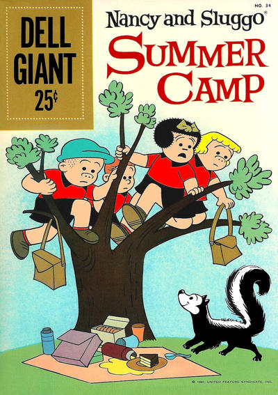 Cover for Dell Giant (Dell, 1959 series) #34 -  Nancy and Sluggo Summer Camp