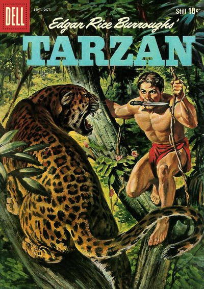 Cover for Edgar Rice Burroughs' Tarzan (Dell, 1948 series) #114