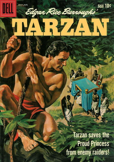 Cover for Edgar Rice Burroughs' Tarzan (Dell, 1948 series) #119