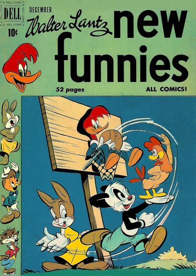 Cover for Walter Lantz New Funnies (Dell, 1946 series) #166