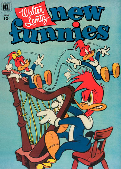 Cover for Walter Lantz New Funnies (Dell, 1946 series) #184