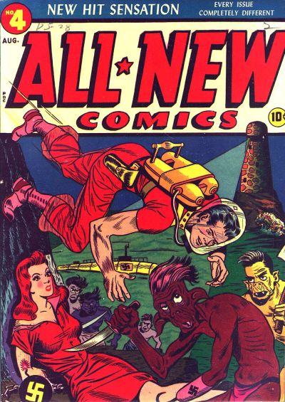 Cover for All-New Comics (Harvey, 1943 series) #4