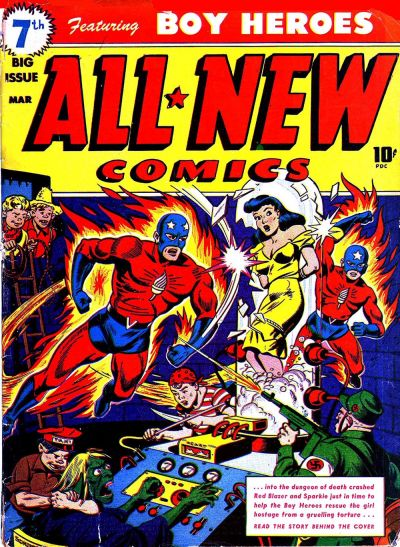 Cover for All-New Comics (Harvey, 1943 series) #7