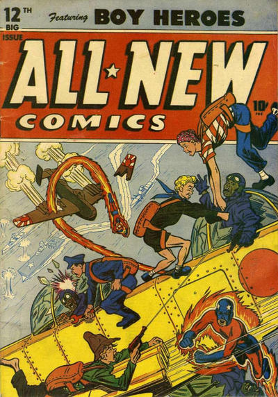 Cover for All-New Comics (Harvey, 1943 series) #12
