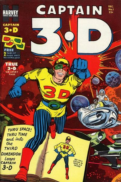 Cover for Captain 3-D (Harvey, 1953 series) #1