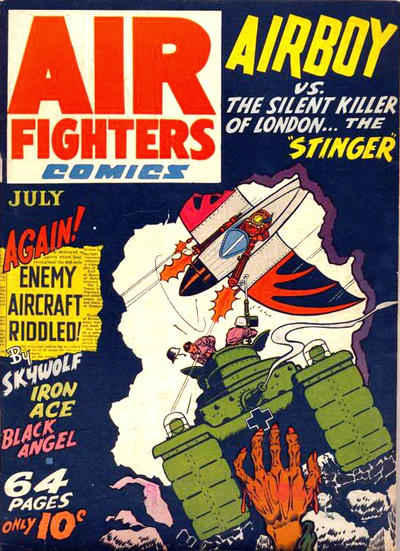 Cover for Air Fighters Comics (Hillman, 1941 series) #v1#10 [10]