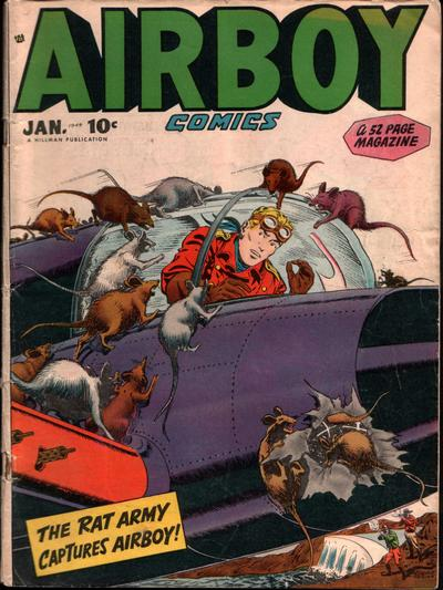 Cover for Airboy Comics (Hillman, 1945 series) #v5#12 [59]