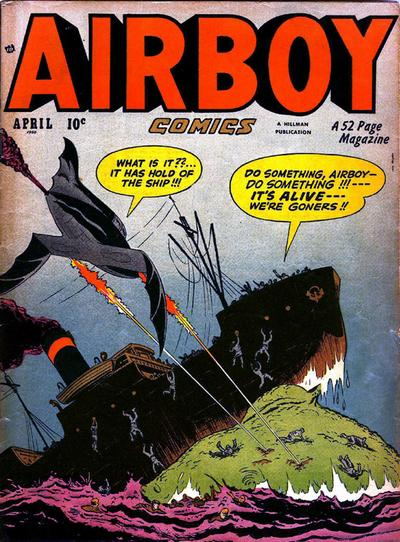 Cover for Airboy Comics (Hillman, 1945 series) #v7#3 [74]
