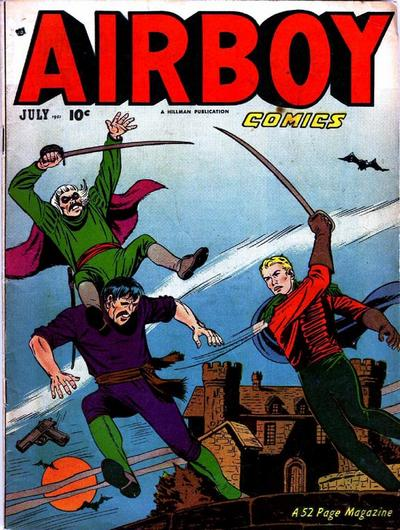 Cover for Airboy Comics (Hillman, 1945 series) #v8#6 [89]