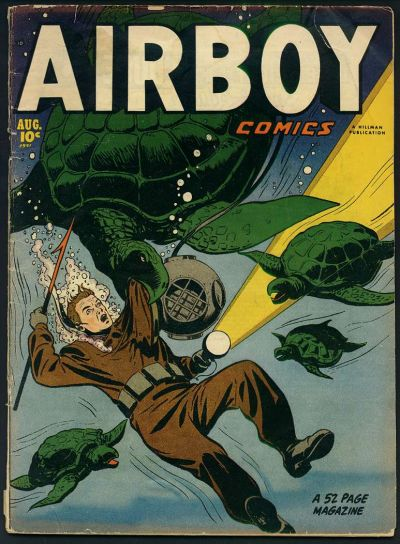 Cover for Airboy Comics (Hillman, 1945 series) #v8#7 [90]