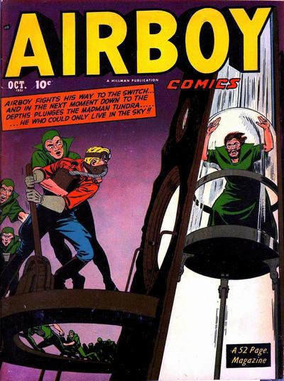 Cover for Airboy Comics (Hillman, 1945 series) #v8#9 [92]