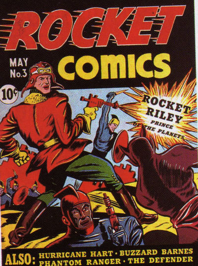 Cover for Rocket Comics (Hillman, 1940 series) #v1#3
