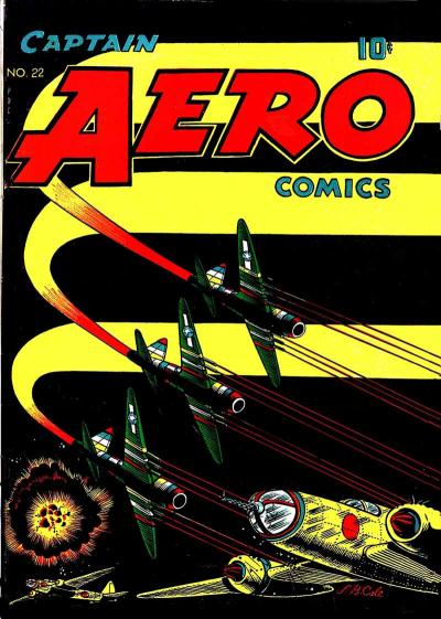Cover for Captain Aero Comics (Temerson / Helnit / Continental, 1941 series) #22