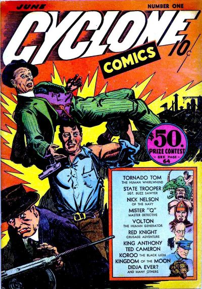 Cover for Cyclone Comics (Worth Carnahan, 1940 series) #1