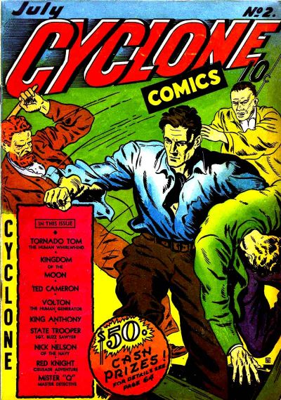 Cover for Cyclone Comics (Worth Carnahan, 1940 series) #2
