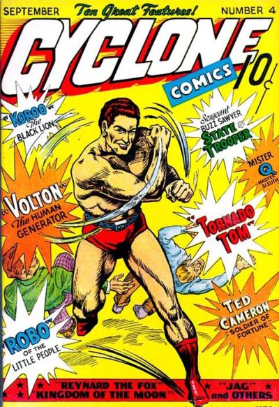 Cover for Cyclone Comics (Worth Carnahan, 1940 series) #4