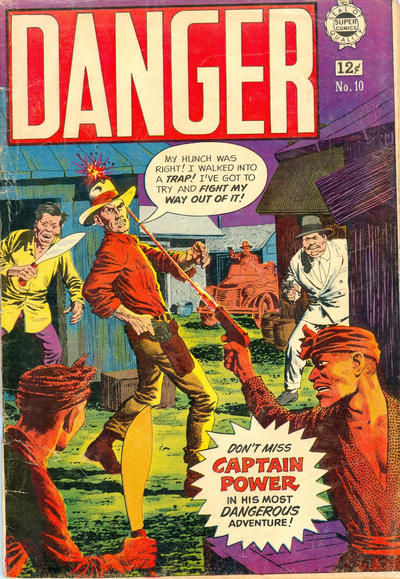 Cover for Danger (I. W. Publishing; Super Comics, 1963 series) #10