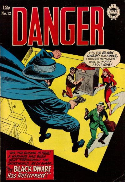Cover for Danger (I. W. Publishing; Super Comics, 1963 series) #12