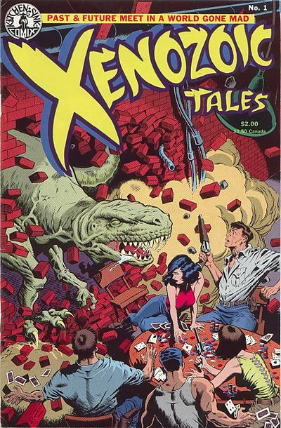 Cover for Xenozoic Tales (1987 series) #1 [Second Printing]