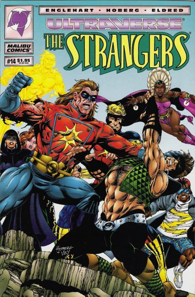 Cover for The Strangers (Malibu, 1993 series) #14 [Direct Edition]