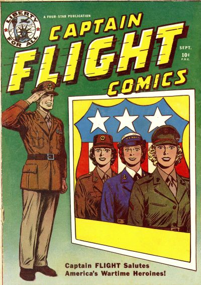 Cover for Captain Flight Comics (Four Star Publications, 1944 series) #4