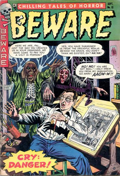Cover for Beware (Trojan Magazines, 1953 series) #11