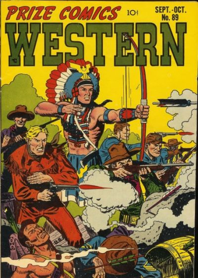 Cover for Prize Comics Western (Prize, 1948 series) #v10#4 (89)