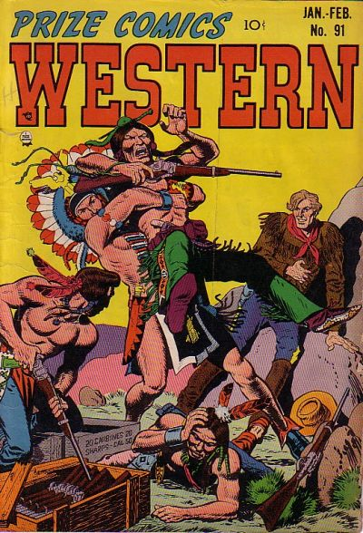 Cover for Prize Comics Western (Prize, 1948 series) #v10#6 (91)