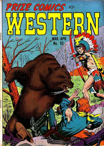 Cover for Prize Comics Western (Prize, 1948 series) #v11#1 (92)