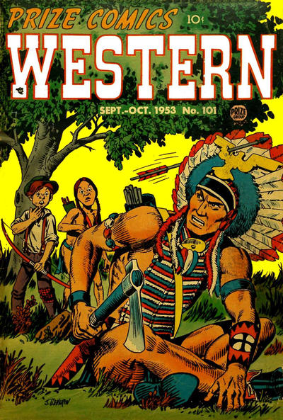 Cover for Prize Comics Western (Prize, 1948 series) #v12#4 (101)