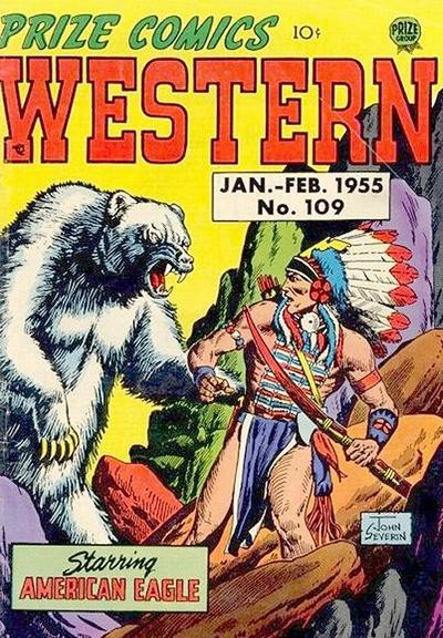 Cover for Prize Comics Western (Prize, 1948 series) #v13#6 (109)