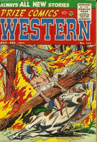 Cover for Prize Comics Western (Prize, 1948 series) #v14#5 (114)