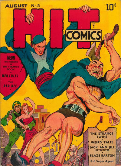 Cover for Hit Comics (1940 series) #2