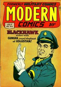 Cover Thumbnail for Modern Comics (Quality Comics, 1945 series) #63