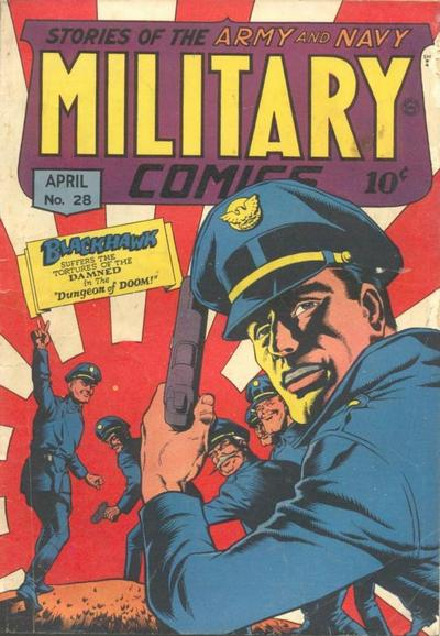 Cover for Military Comics (1941 series) #28