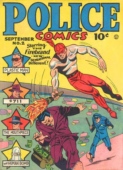 Cover for Police Comics (1941 series) #2