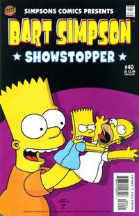 Cover Thumbnail for Simpsons Comics Presents Bart Simpson (Bongo, 2000 series) #40