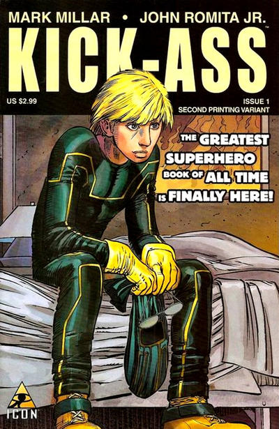 Cover for Kick-Ass (Marvel, 2008 series) #1 [Umpteenth Printing Variant]