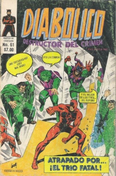 Cover for Diabolico (Novedades, 1981 series) #61