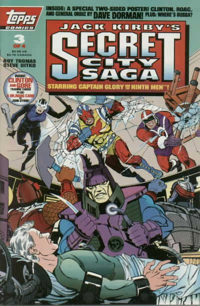 Cover for Jack Kirby&#39;s Secret City Saga (1993 series) #3