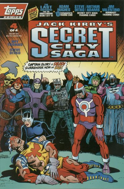 Cover for Jack Kirby&#39;s Secret City Saga (1993 series) #4