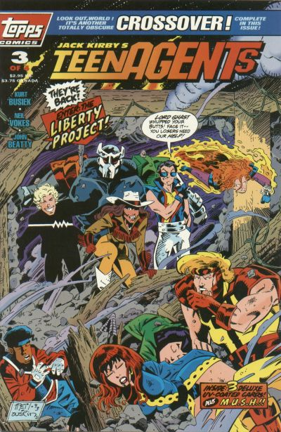 Cover for Jack Kirby's TeenAgents (Topps, 1993 series) #3