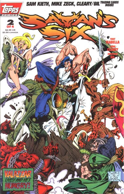 Cover for Satan's Six (Topps, 1993 series) #2