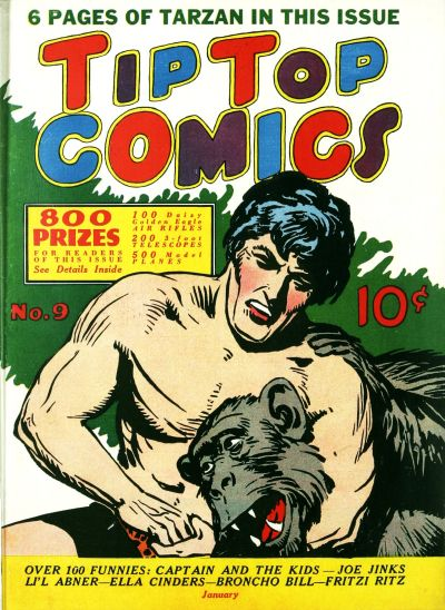 Cover for Tip Top Comics (United Features, 1936 series) #9