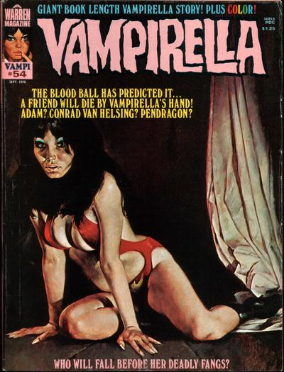 Cover for Vampirella (Warren, 1969 series) #54