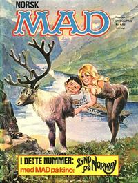 Cover Thumbnail for Mad (Williams Forlag, 1971 series) #1/1972
