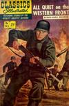 Cover for Classics Illustrated (Gilberton, 1947 series) #95 [O] - All Quiet on the Western Front