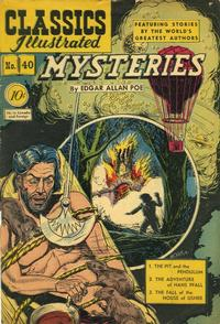 Cover Thumbnail for Classics Illustrated (Gilberton, 1947 series) #40 [O] - Mysteries